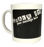 Cheap Promotional Chalk Message Mug