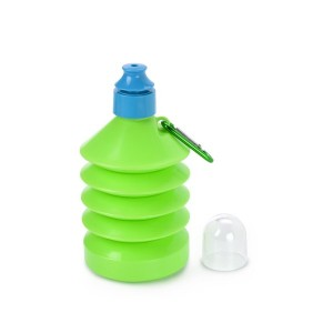 600ml Foldable Drinking Bottle - Green